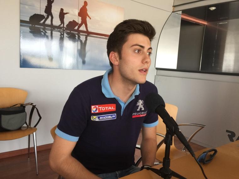 Pepe López, el jovencísimo madrileño que está defendiendo los colores de Peugeot España en Francia.
