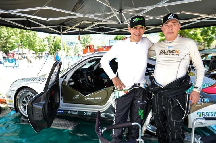 Sergio Vallejo y Antonio Boto en el Rallysprint Valle de Omaña 2015