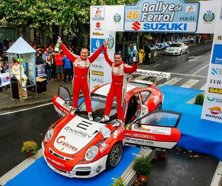 Alvaro Bañobre e Iván Ares en el pasado Rally de Ferrol