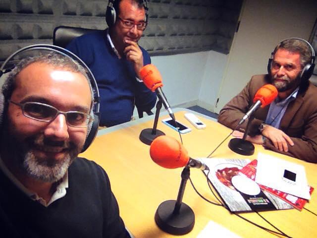 Fernando González, Ramón Biosca y Carlos Enríquez de Salamanca.